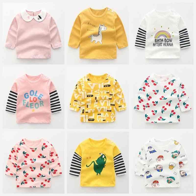 Winter Baby T-shirt Whale Long Sleeve -cotton Clothing Hug Tops