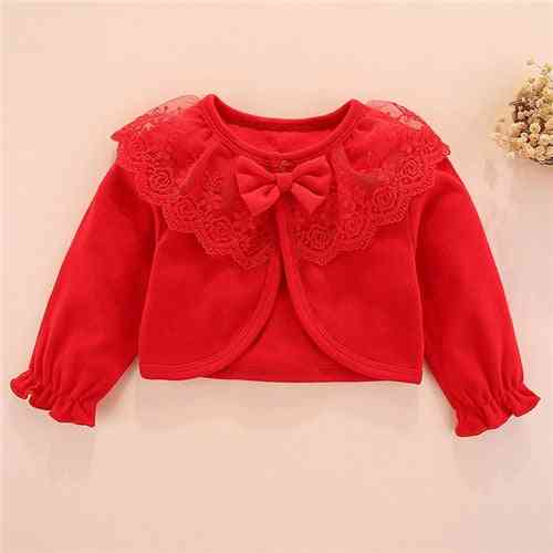 100%cotton Baby Girl Bow Lace Princess Baby Coat