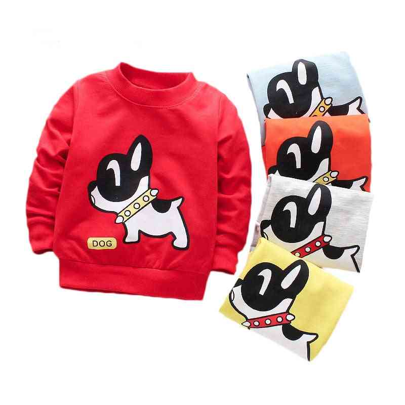 Baby Cute Dog Pattern Cotton T-shirts - Long Sleeve Clothes