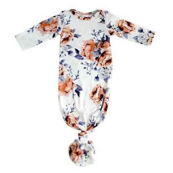 Floral Printed Sleepwear For Newborn