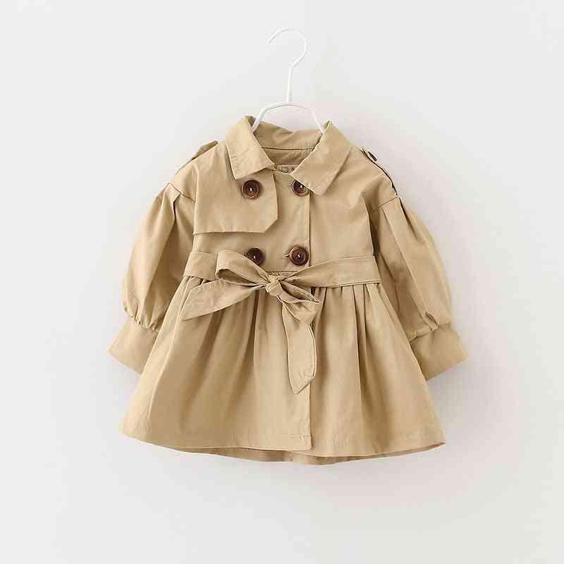 Baby Casaco Coat, Spring Jas Trench Double Breast Windbreaker For Girl Jacket