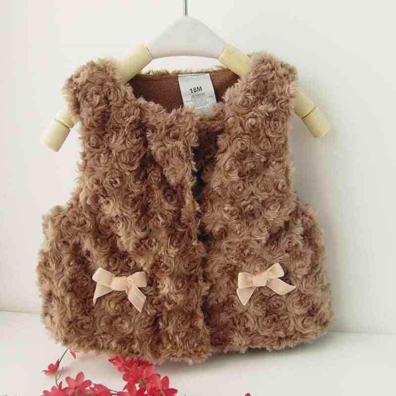Baby Autumn Winter Waistcoat Warm, Infant Imitation Fur Vest Outwear Coat Baby Clothes