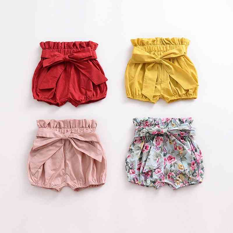 Baby Shorts, Cotton Flower Patterns Lantern Pants Trousers For