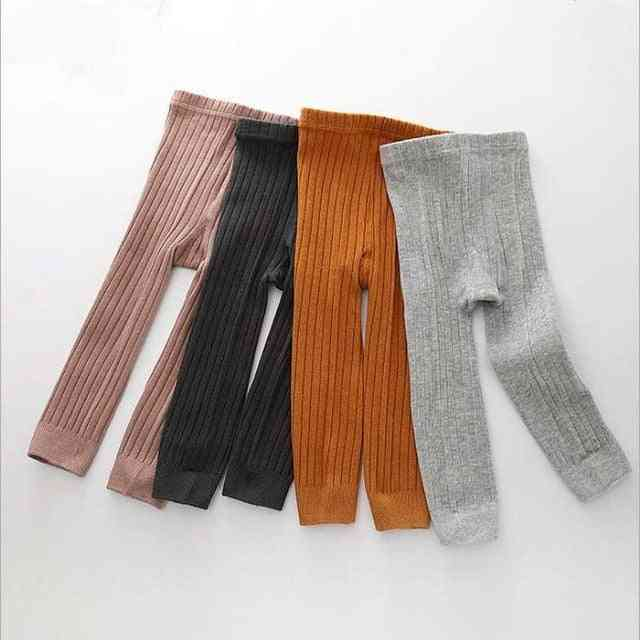 Baby Girl Stretch Leggings Pants,  Child Knitting Trousers