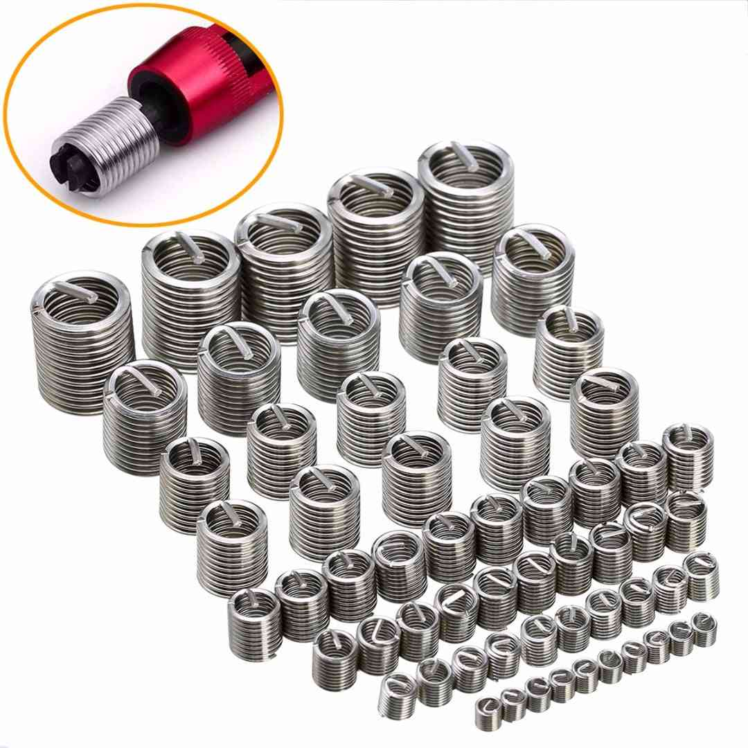 60pcs Silver M3-m12, Thread Repair, Insert Kit Set -from Stainless Steel