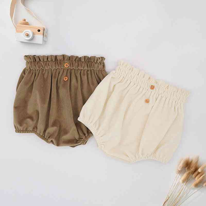 Newborn Baby Warm Short Pants, Bubble Bloomers, Pantalones With Hat