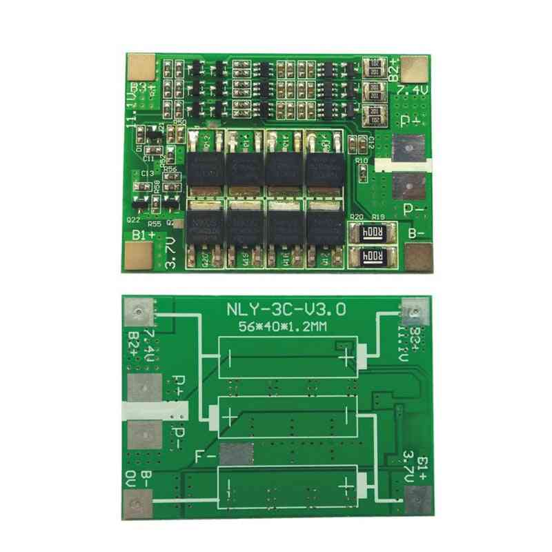11.1v 12.6v 18650 Lithium Battery Protection Board,  With Balanced Version