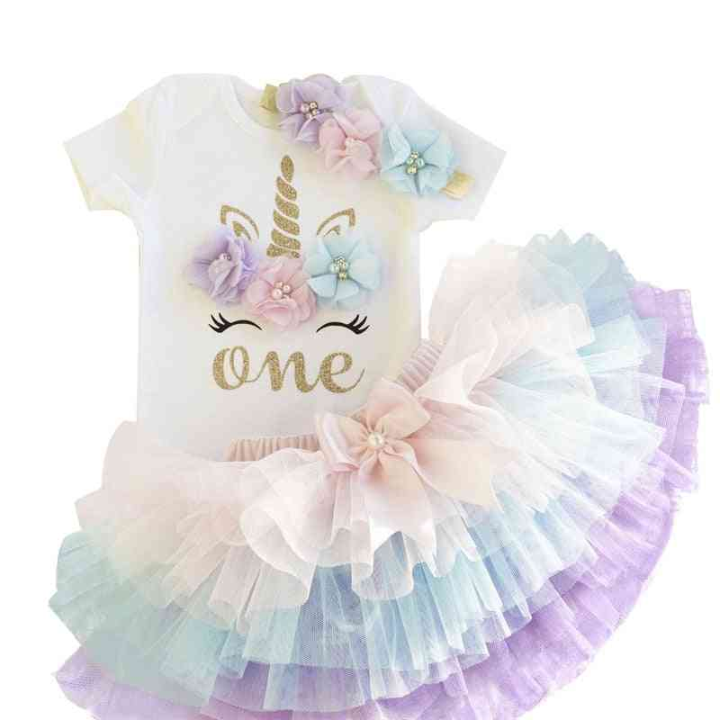 Baby Girl Tutu Dress Party Christening Outfits Princess Costumes