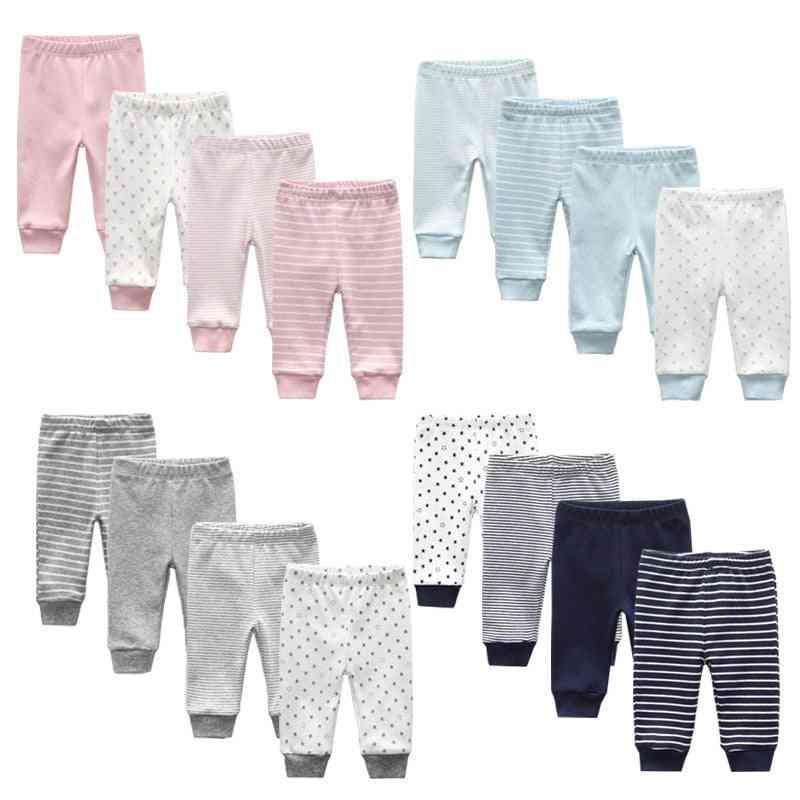 Newborn Cartoon Four Seasons Cotton Soft Girl Pants, Baby Boy Trousers