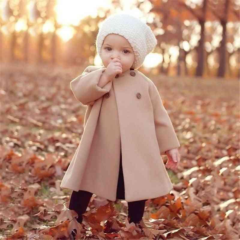 Girls Autumn Jacket, Warm Long Outerwear Windproof Newborn Baby Coats