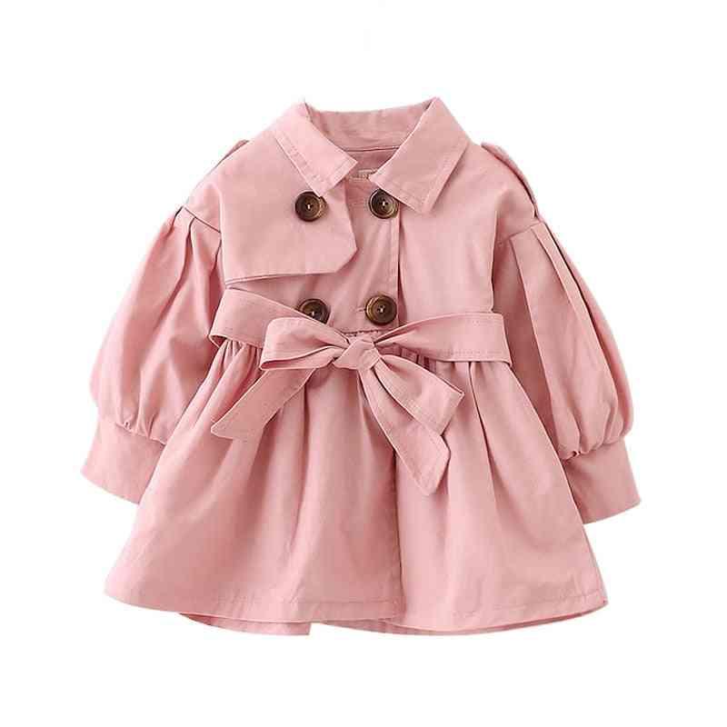 Fashion Autumn Coat With Belt - Long Jackets