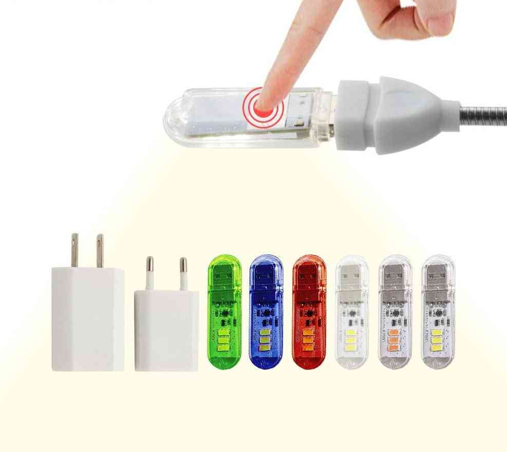 Dc5v Touch Switch Usb Mini Led Book Lamp - Portable Led Reading Light
