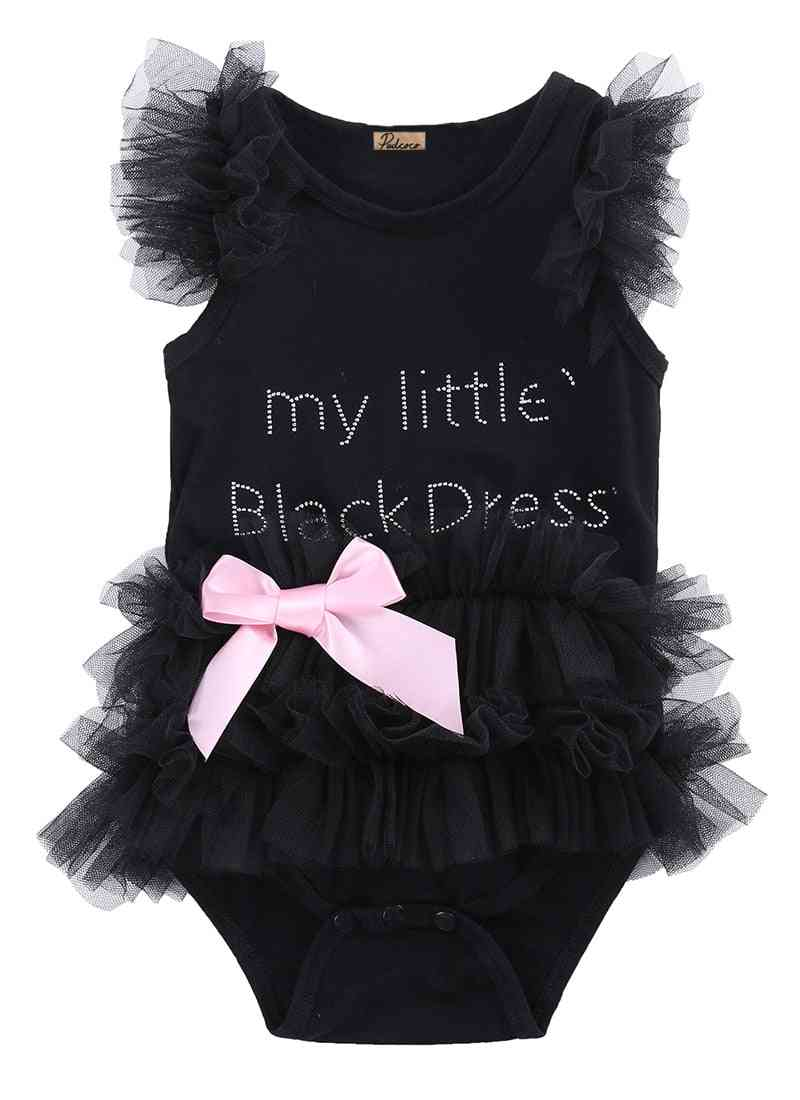 Baby Bodysuits- Fashion Embroidered Lace My Little Dress