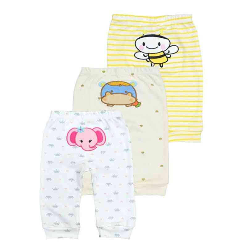 3pcs/lot Cotton Casual Pants / Trousers For Newborn Kids