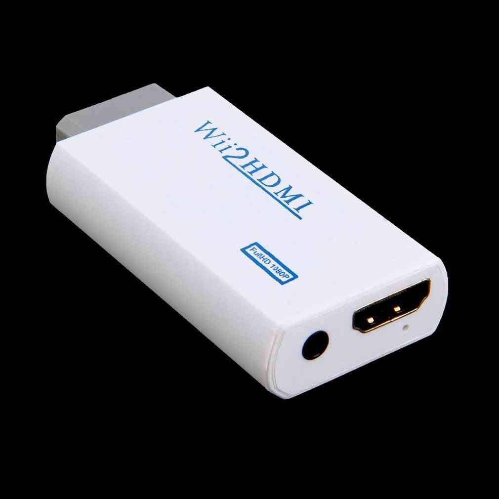 Wii To Full Hd 1080p Hdmi Converter Adapter For Pc/tv Monitor Display