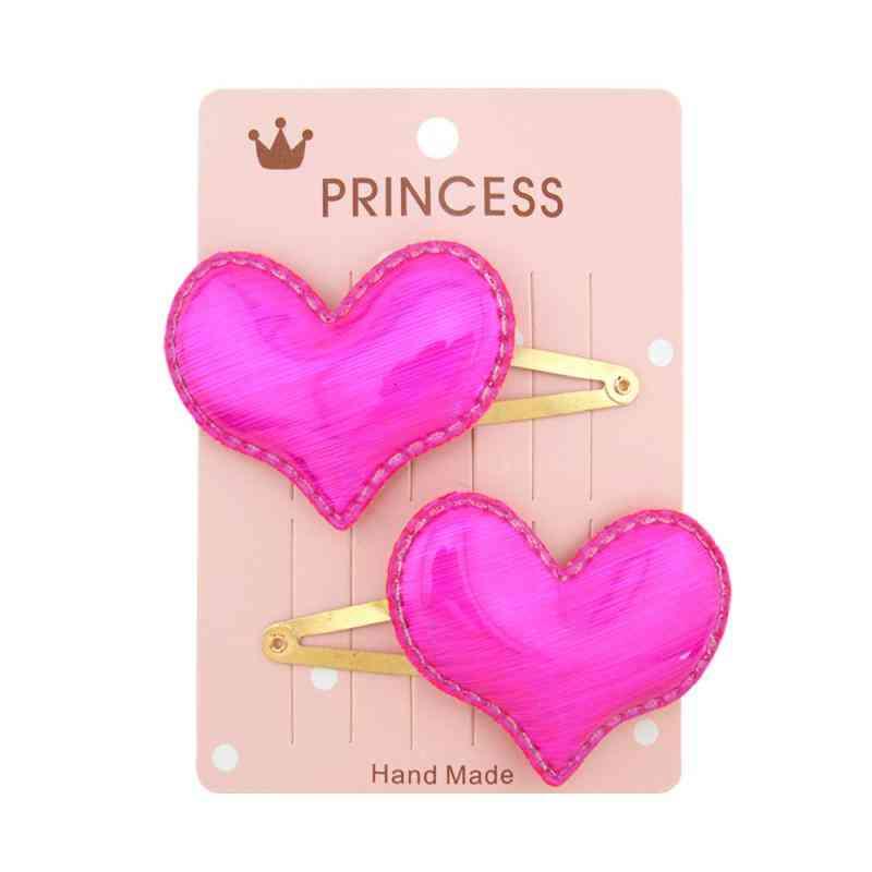 Baby Girl Headwear Hair Accessories, Shiny Crown Heart Star Hairclips