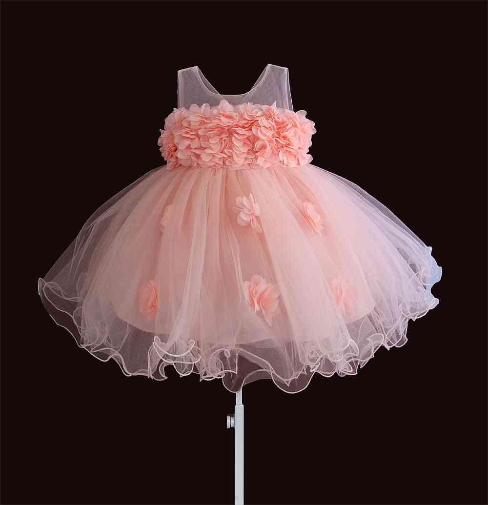 Baby Girls Dresses Lace Flower- Kids Clothing Princess Baptism