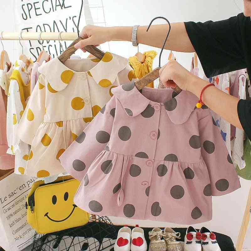 Long Sleeve, Polka Dot Pattern Jacket For Kids