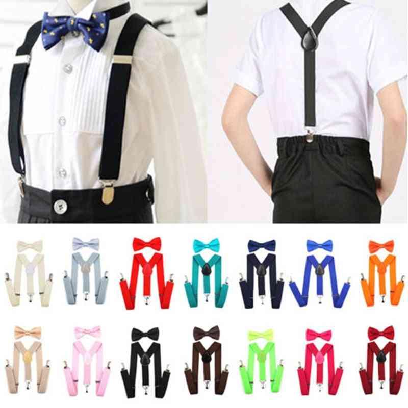 Kids Suspenders With Bowtie Accessories