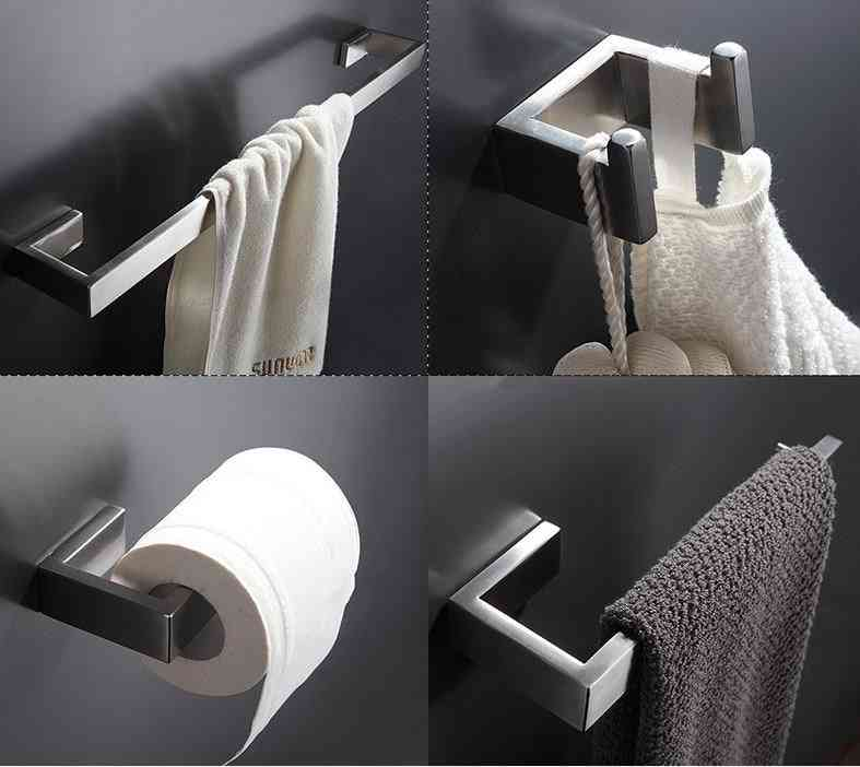 304 Stainless Steel, Wall Mount Bathroom Accessories Set