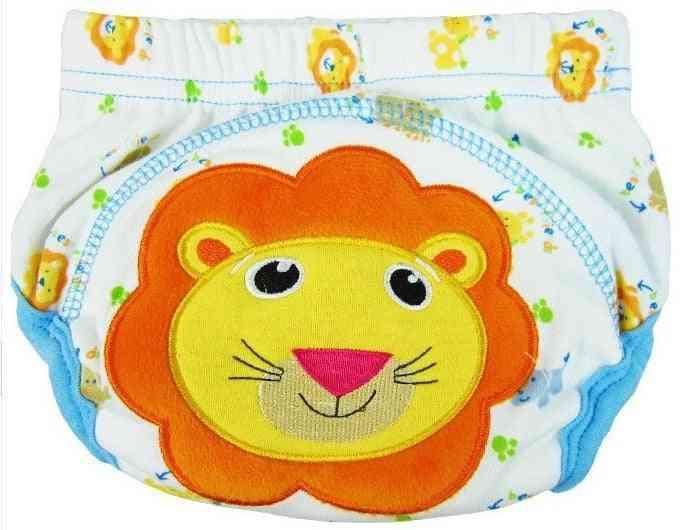 Cotton Cartoon Training Pants - Reusable Diaper / Underpants For Infant