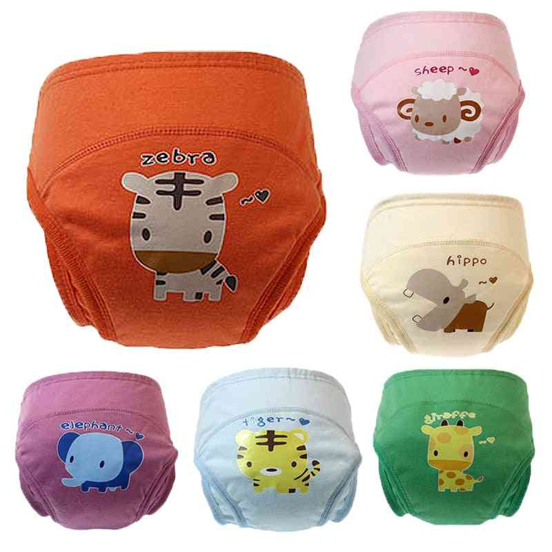 Cartoon Printed, Leak-proof, Washable And Reusable Diaper Cover Underwear