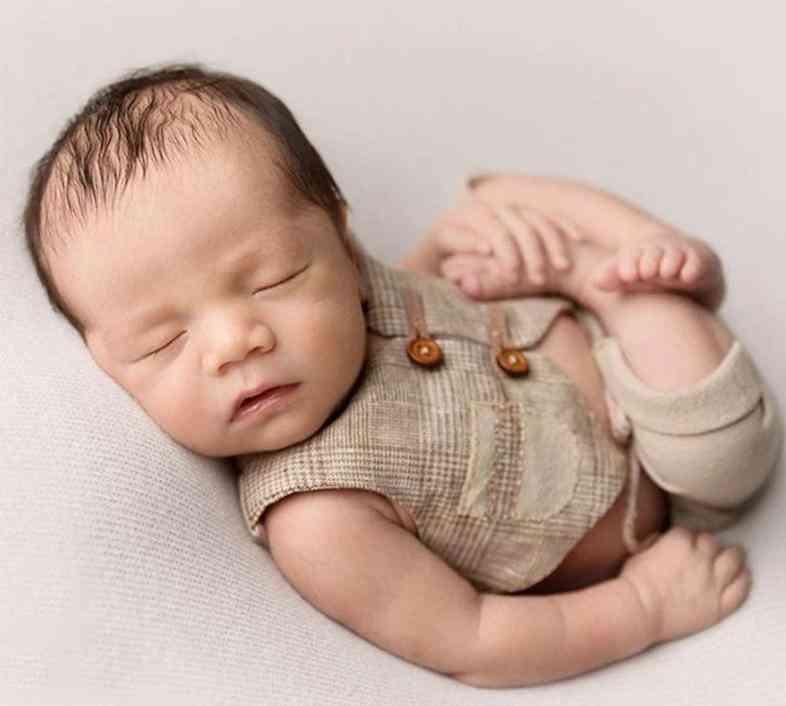 Newborn Baby Photography Clothing Props, Little Gentleman Vest & Shorts Suit