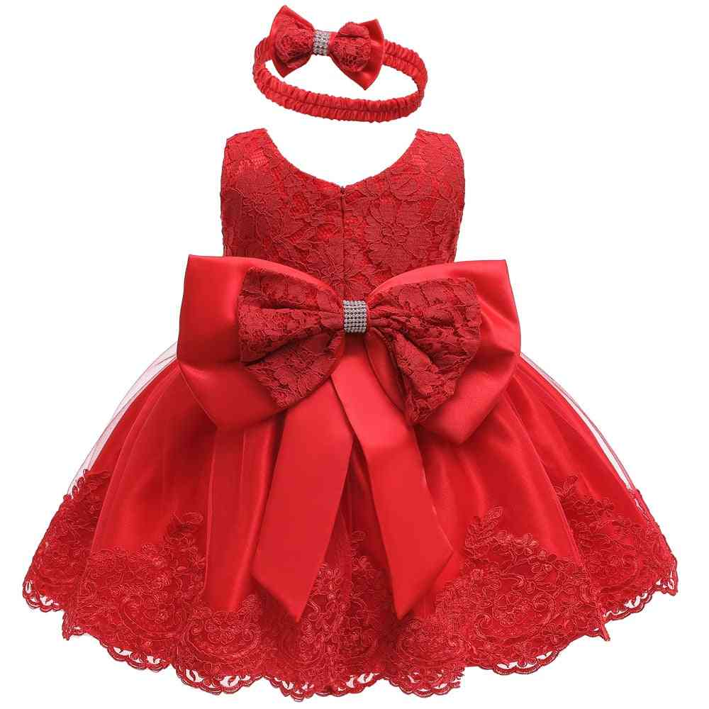 1pcs Infant Newborn Baby Bow Princess Dress For Christmas, Birthday Party