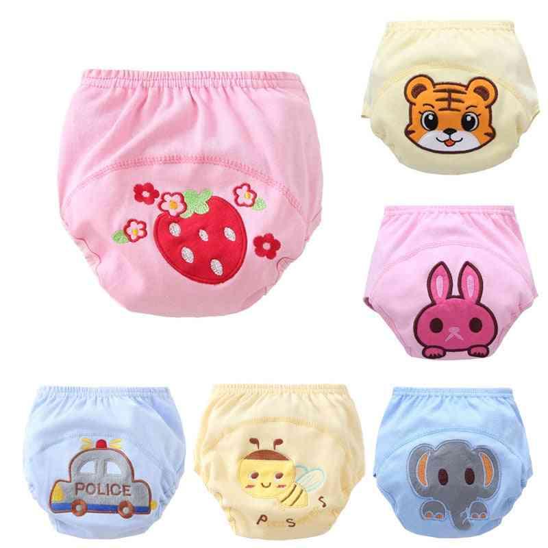 Cotton Cartoon Training Pants - Reusable Underwear Underpants For Infant