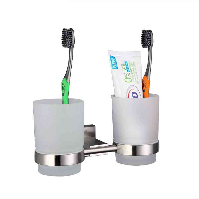 Wall-mount Toothbrush / Toothpaste Cup Holder