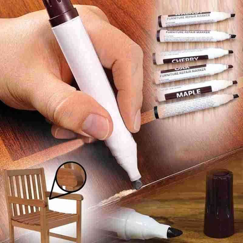 Wooden Furniture, Floor, Damaged Scratch, Patch Repair - Paint Pen