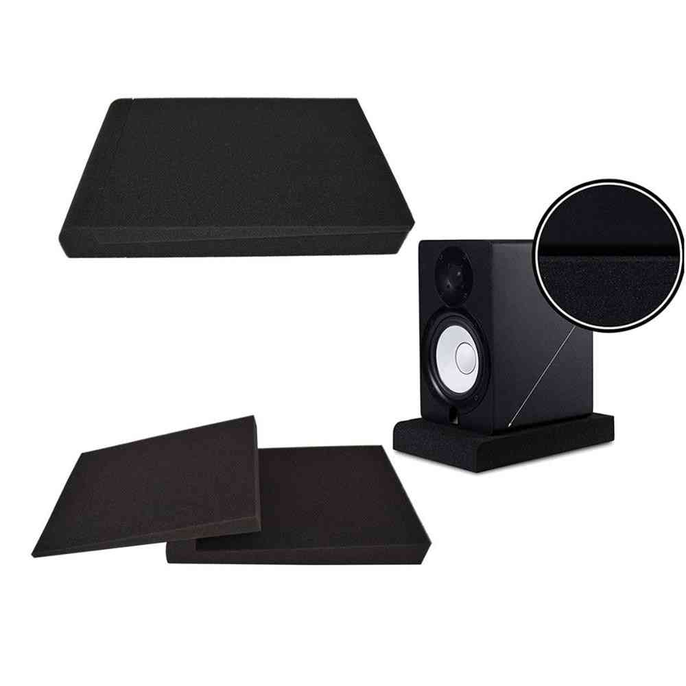 Studio Isolation Pads For 5 In Monitors, Two High Density Acoustic Foam