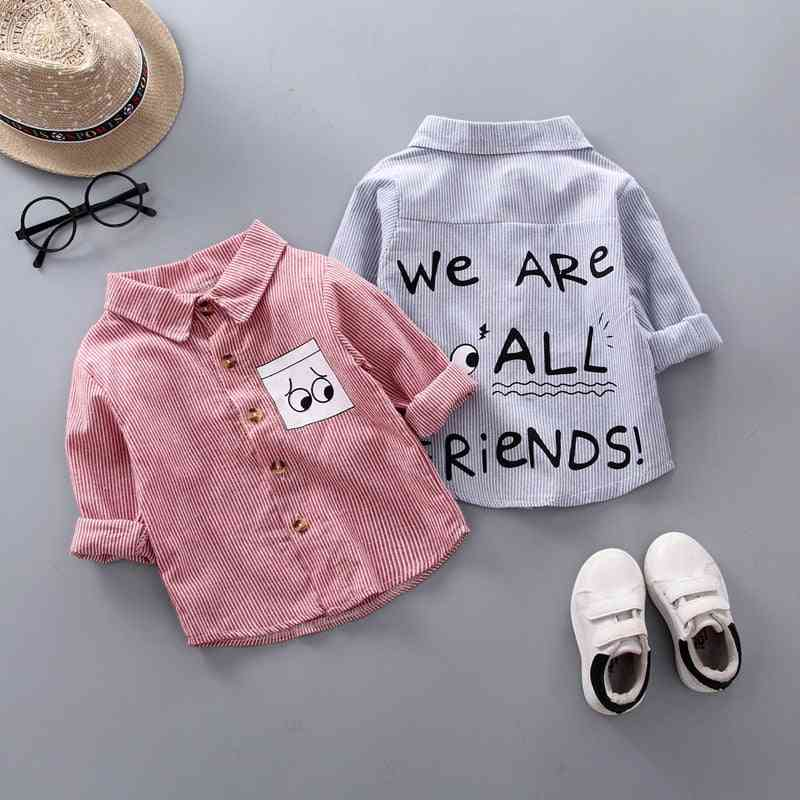 Stripe Shirt Clothes, Baby Spring Thin Infant Boy Long Sleeve Tees Tops Cotton