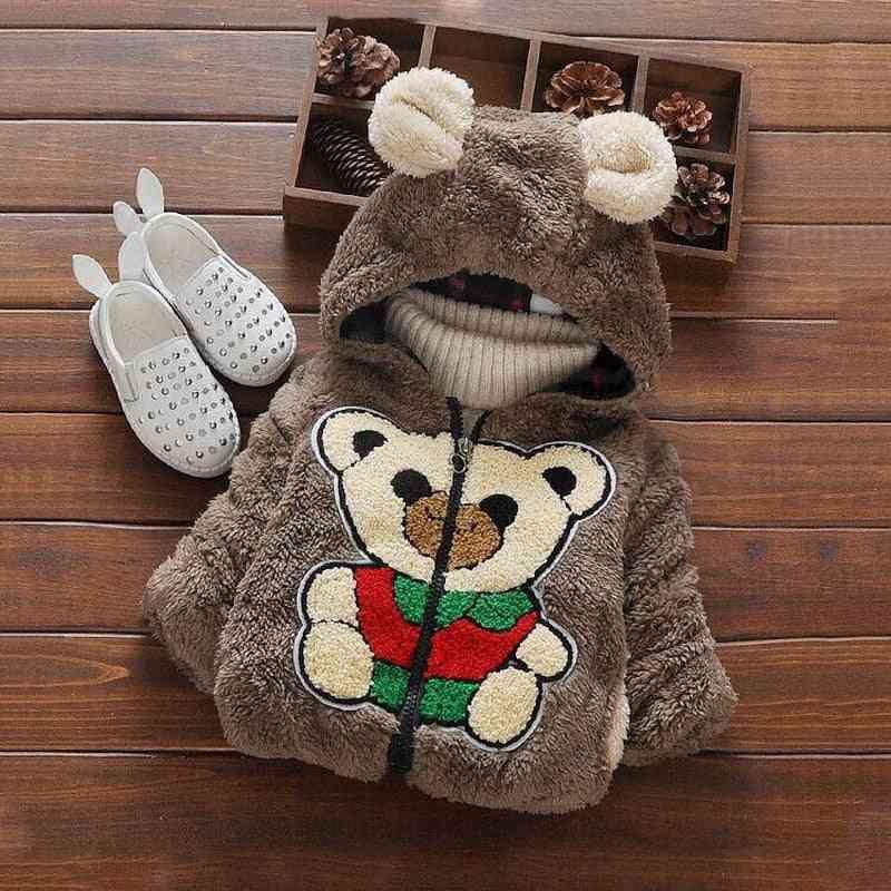 Fashion Baby Jackets, Fur Collar Autumn & Winter Warm Thick Parkas Outerwear Girl Coat