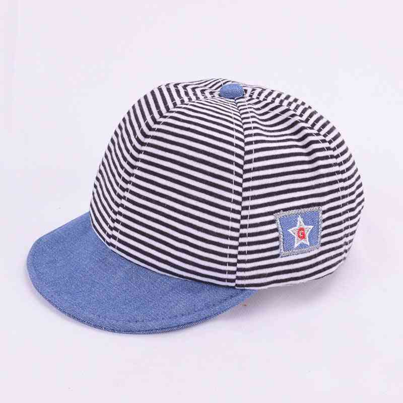 Summer Cotton Baby Hat Cute Casual Striped Baby Sun Protect Hats Caps