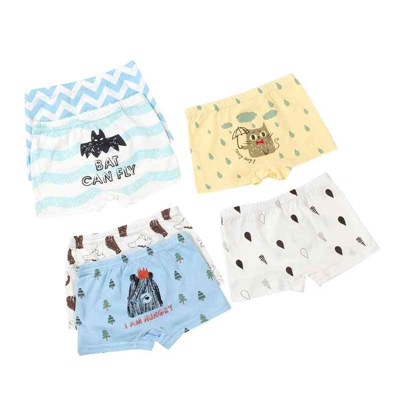 Baby Boy Underwear, Cartoon Printing Cotton Soft Underpants Clothes