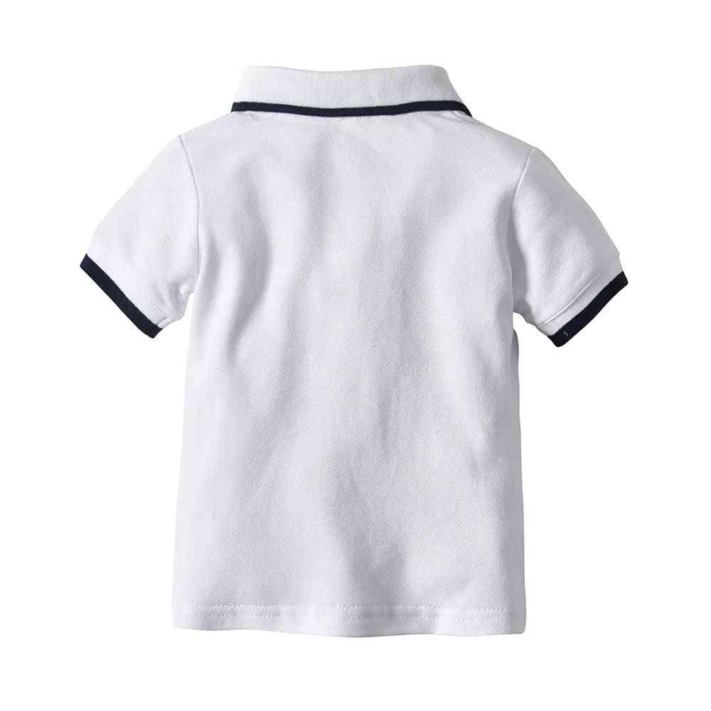 Summer Baby Boy Fashion Gentleman T-shirt, Short Sleeve Cotton Tops Infant Clothing