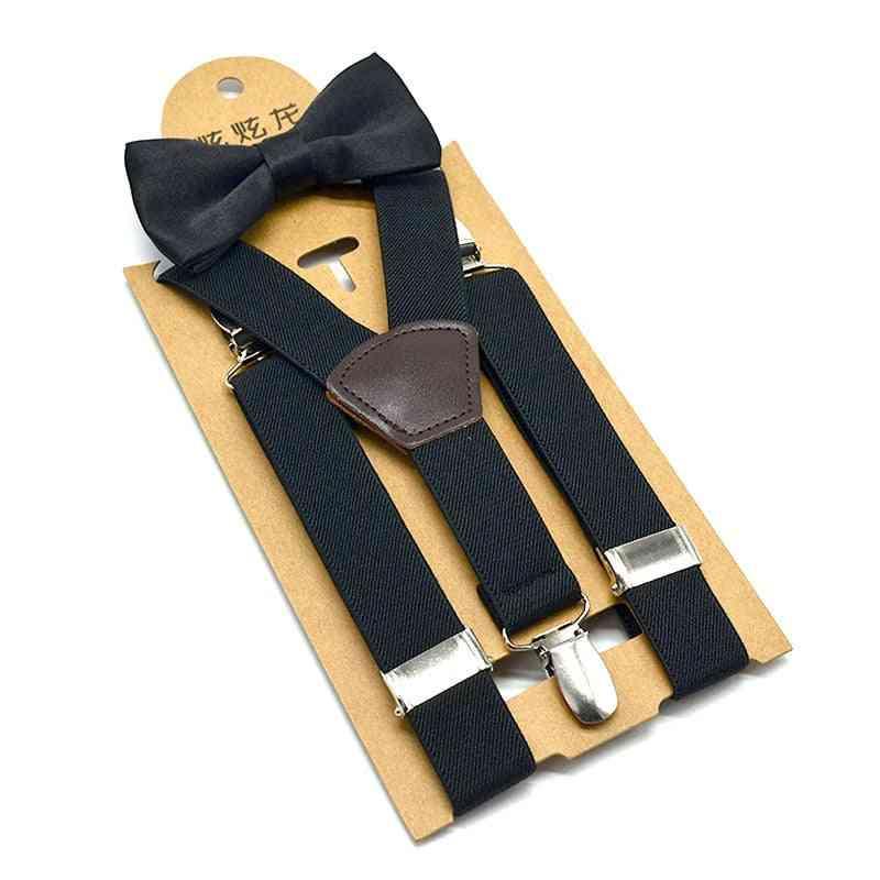 Baby Boy Braces Suspenders Luxury Bow Tie Set