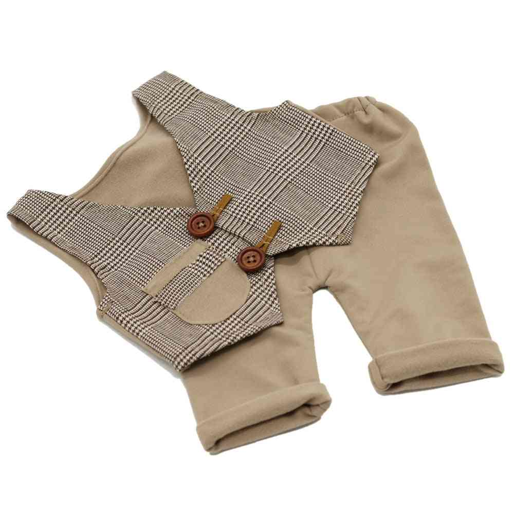 Newborn Baby Boy Vest & Pant Photography Props Clothes