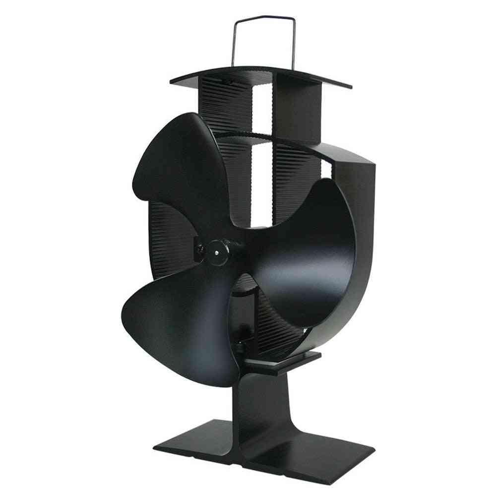 3 Blades Heat Powered Fireplace Fan