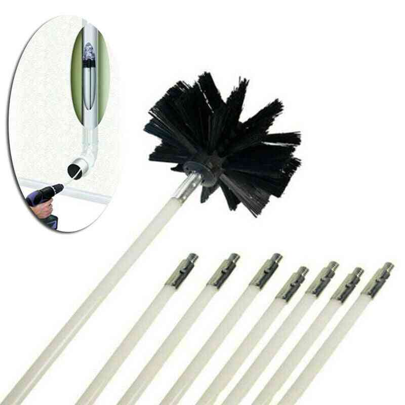 Drill Powered Chimney Cleaning Set Including Rods And Brushes