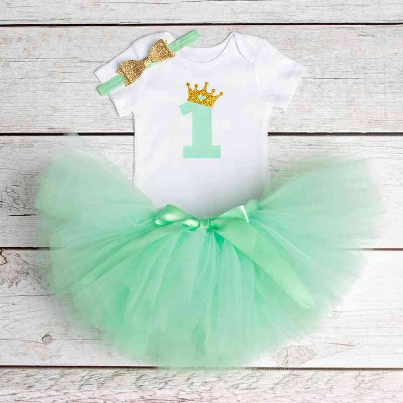 Baby Girl First Birthday Outfit - Summer Infant Christening Suits