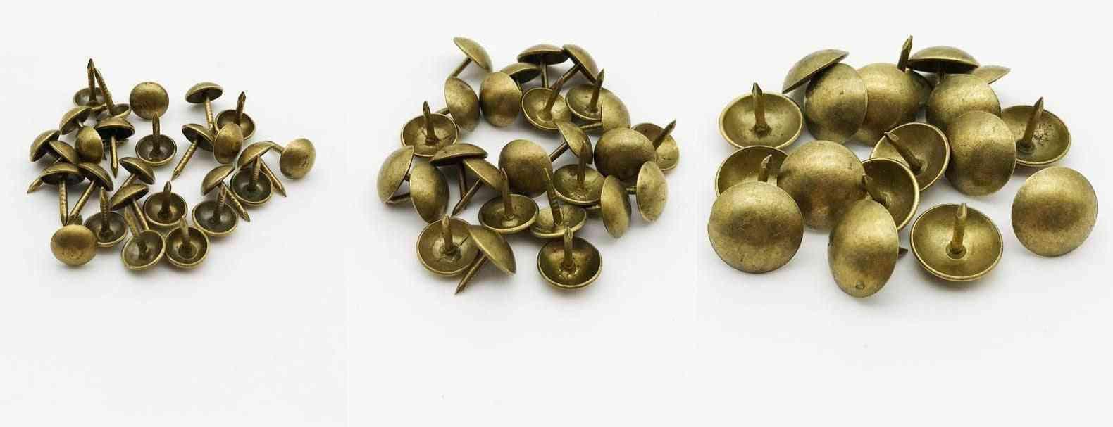 Tack Stud Pushpin Doornail, Antique Brass Bronze, Upholstery Nail Jewelry