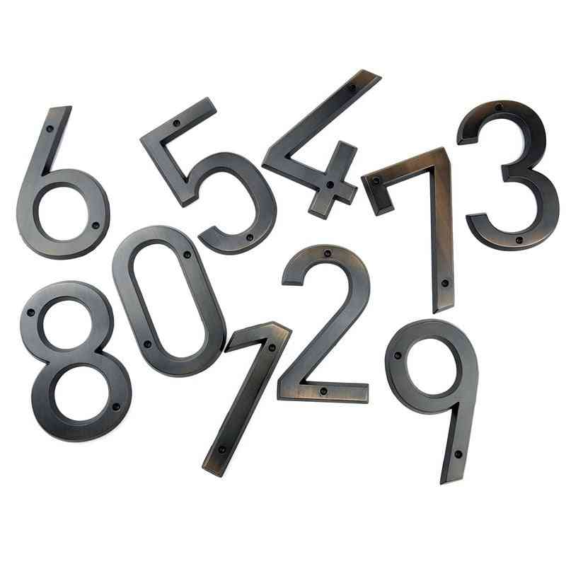 Aged Bronze House Number, Door Address