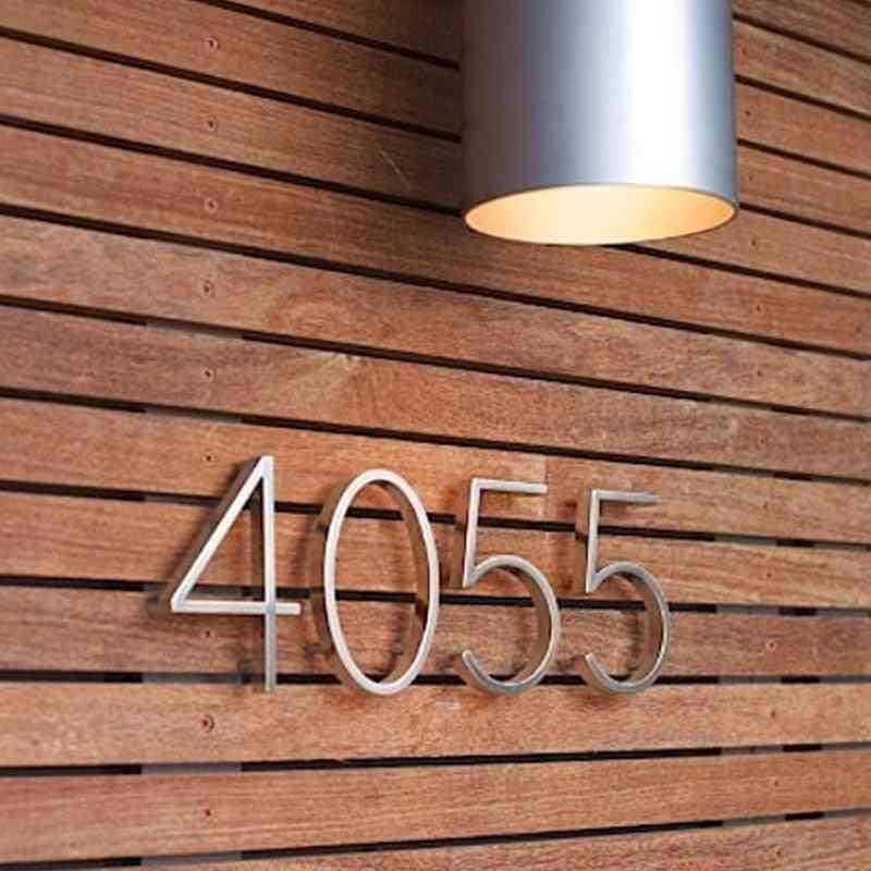 12cm Silver Sign, Alphabet And Letters For Home Door Numbers