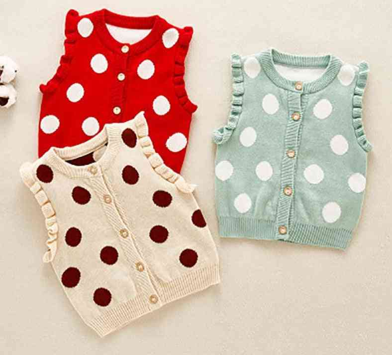 Sodawn Baby Vest, Autumn Casual Tops Pullover Sweater, Dot Print