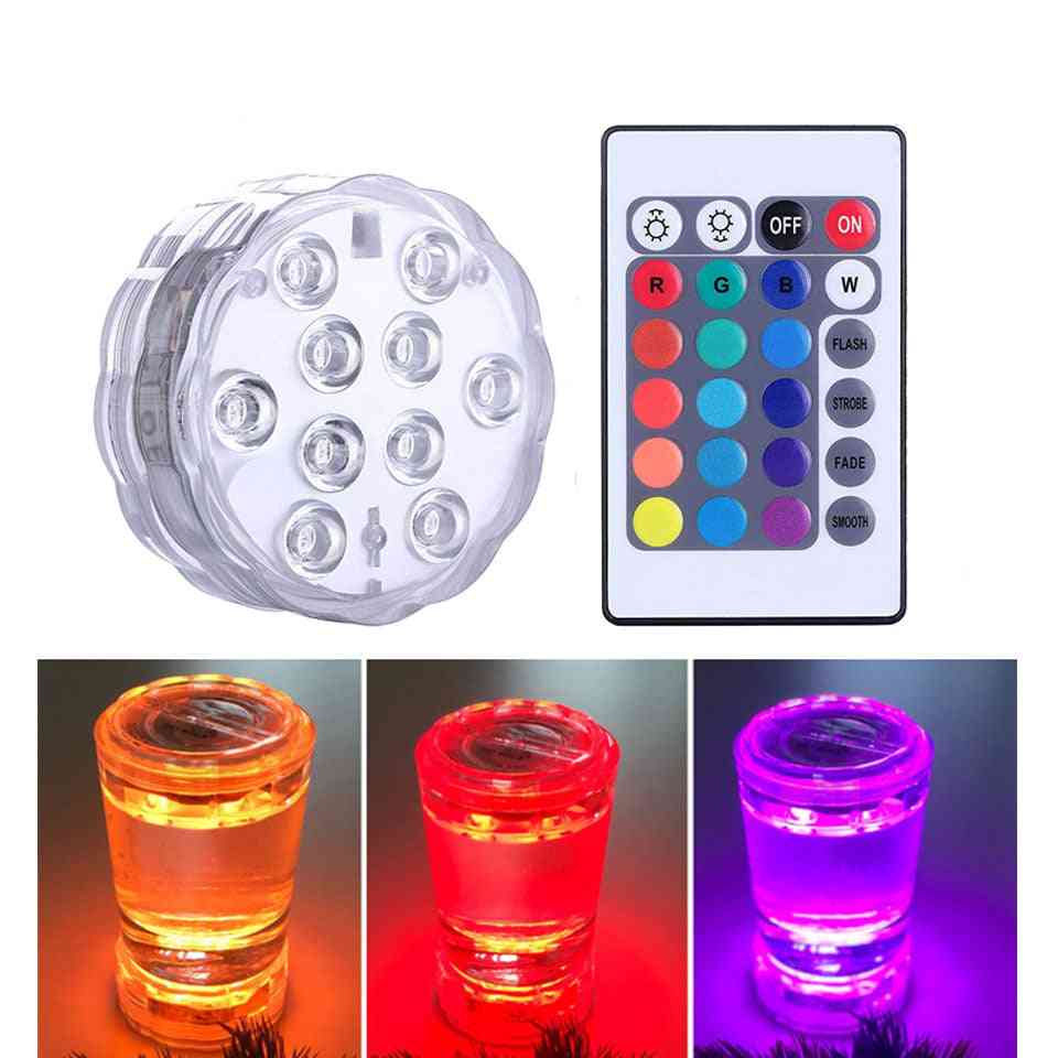 Underwater Light, Waterproof Battery Operated Submersible Led Lamp