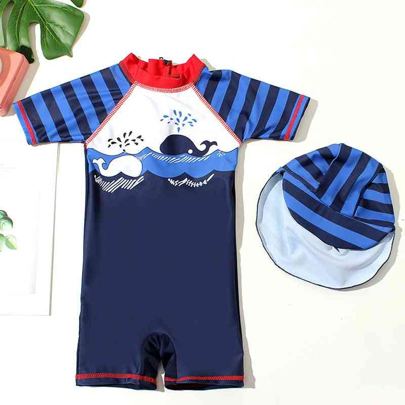 Summer Baby Swim Suit With Cap, Swimming Clothes