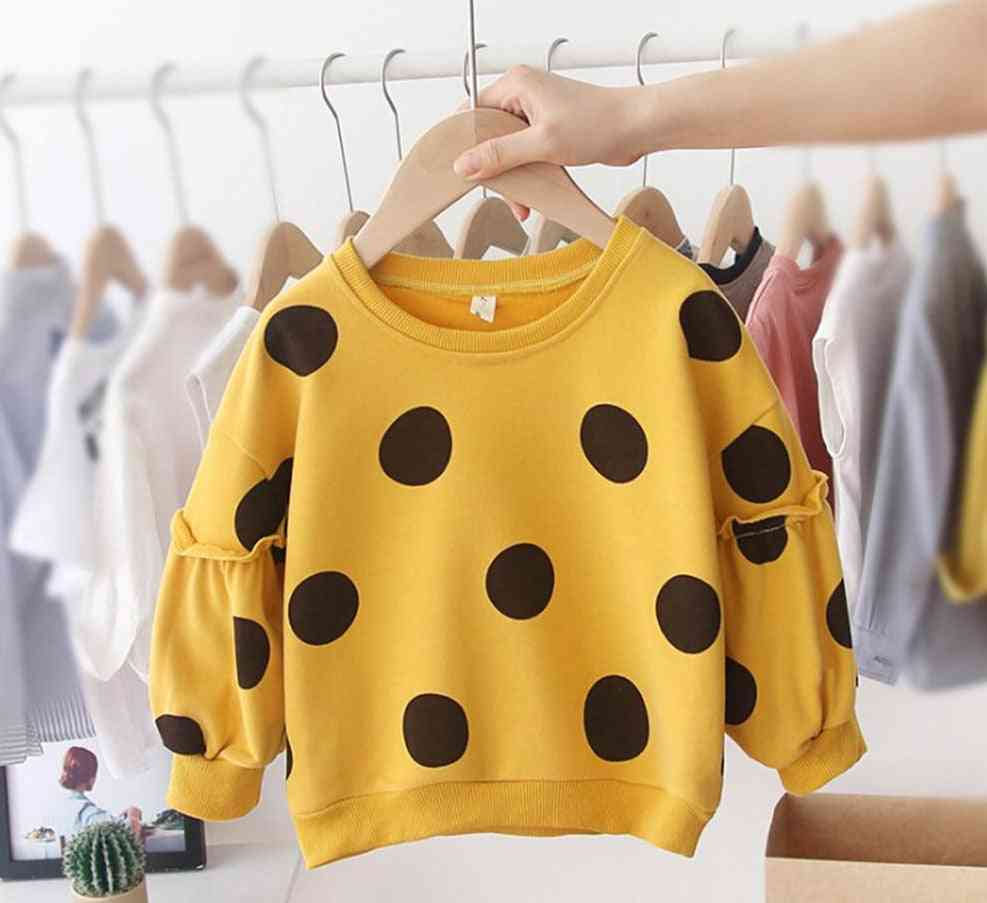 Baby Long Sleeve Cotton Dot Hoodies / Sweatershirt - Autumn Winter Casual Loose Tops