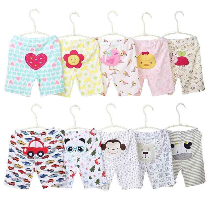 Cartoon Print Baby Shorts, Cotton Baby Girl Summer Unisex Pants